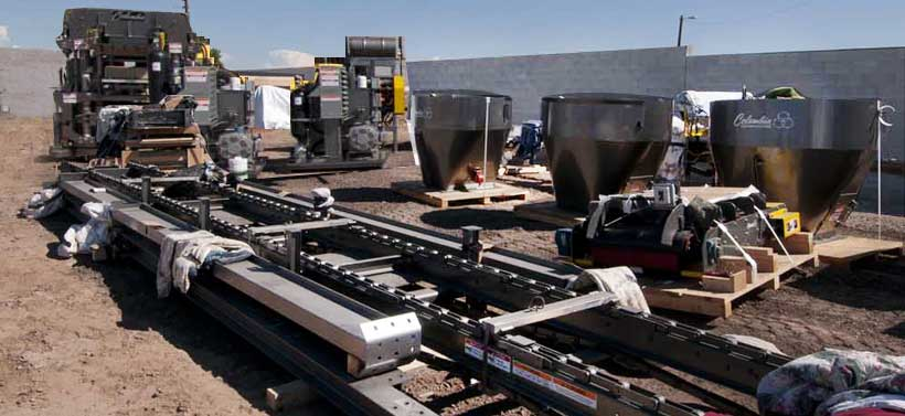 PHOENIX PAVER MFG. New Plant Construction Progress Photos: Columbia Equipment Arrives