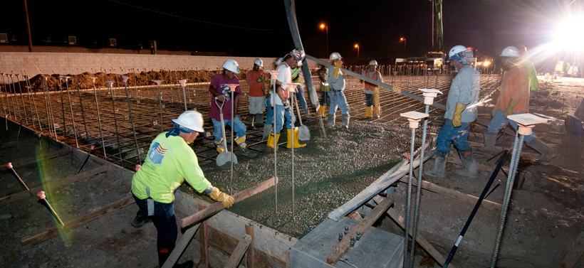 PHOENIX PAVER MFG. New Plant Construction Progress Photos: Slab pouring for kilns.